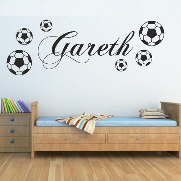 Football Name Wall Sticker