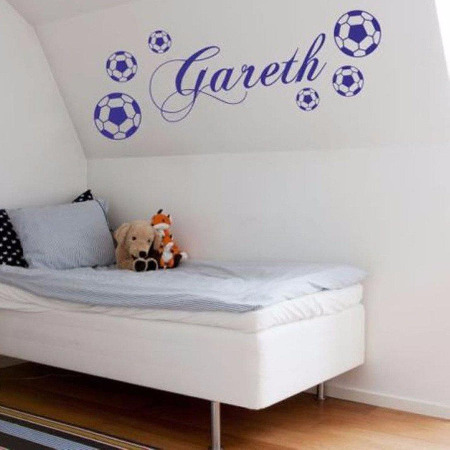 ... Personalized Name FOOTBALL Decals Vinyl Wall Sticker Art Sports Boys  Footballer Poster Kids Room Wall Stickers ...