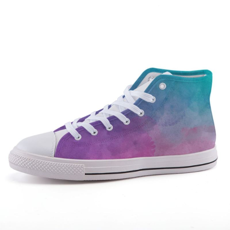 Pink Blue Watercolor Sneakers Shoes