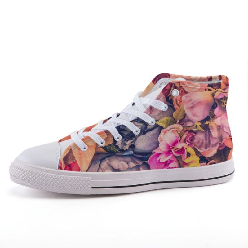 Pink Flower Sneakers Shoes