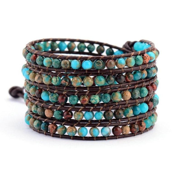Multilayer Leather Wrap Bracelet
