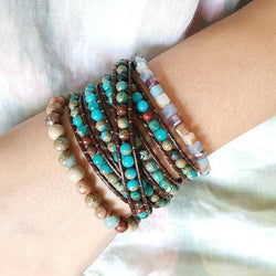 Multilayer Leather Wrap Bracelet-Spirylife