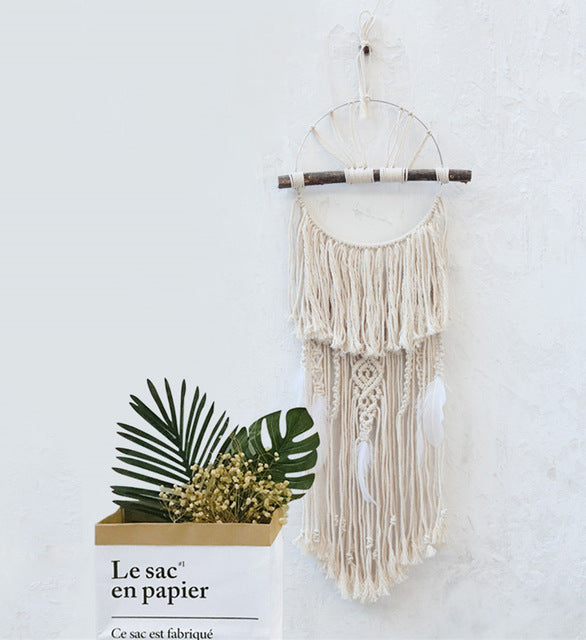 Feather Macrame Wall Decoration-Spirylife