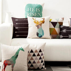 Nordic Geometric Cushion Covers