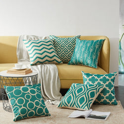 Sea Green Modern Nordic Soft Cushion Covers Cotton Throw Pillow Cases