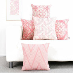 Modern Pink Geometric Nordic Cushion Covers