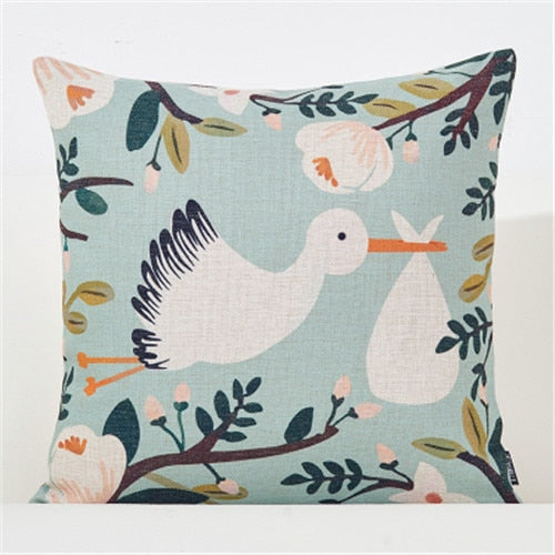 Flower Plant Botanical Sofa Cushion Pillow Covers