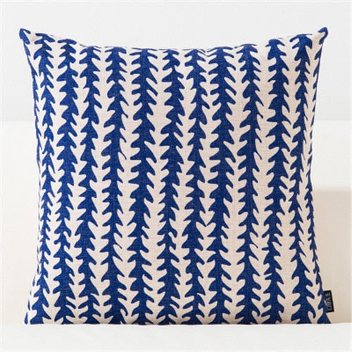 Blue Watercolor Artistic Geometric Cushion Covers