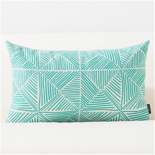 Blue Colors Geometric Nordic Throw Pillow Cushion Covers