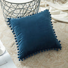 Soft Velvet Decorative Border Throw Pillow Cushions Covers
