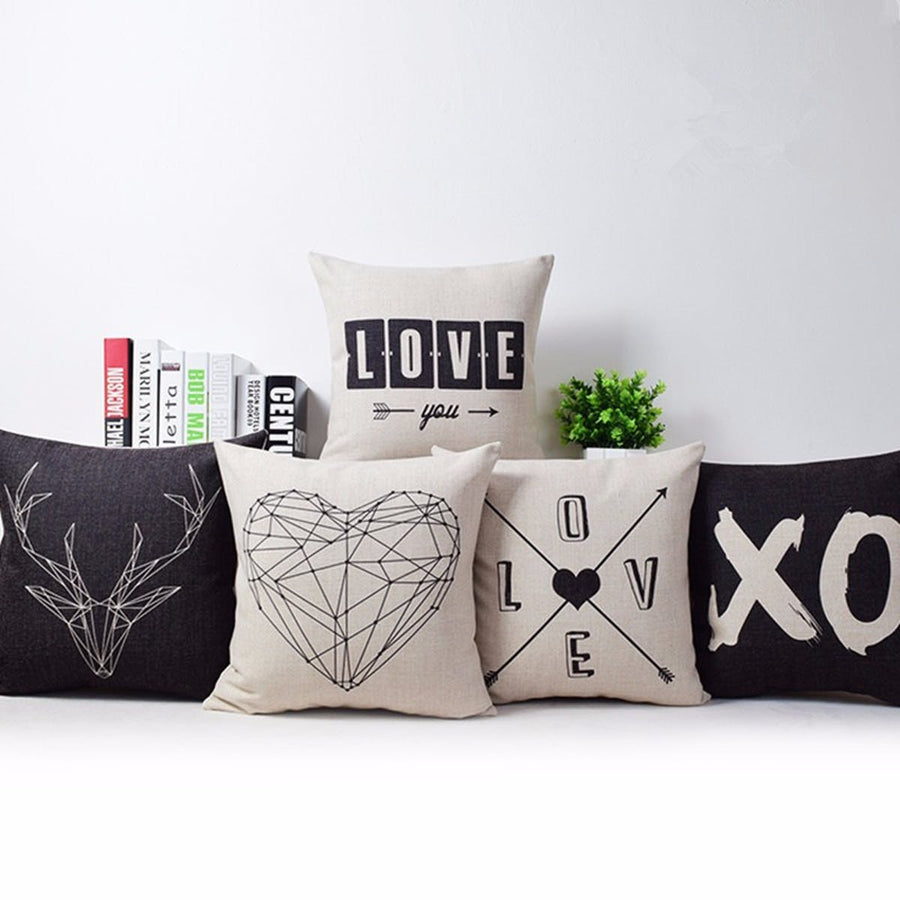 nordic love cushion covers romantic pillow case cover home. Black Bedroom Furniture Sets. Home Design Ideas