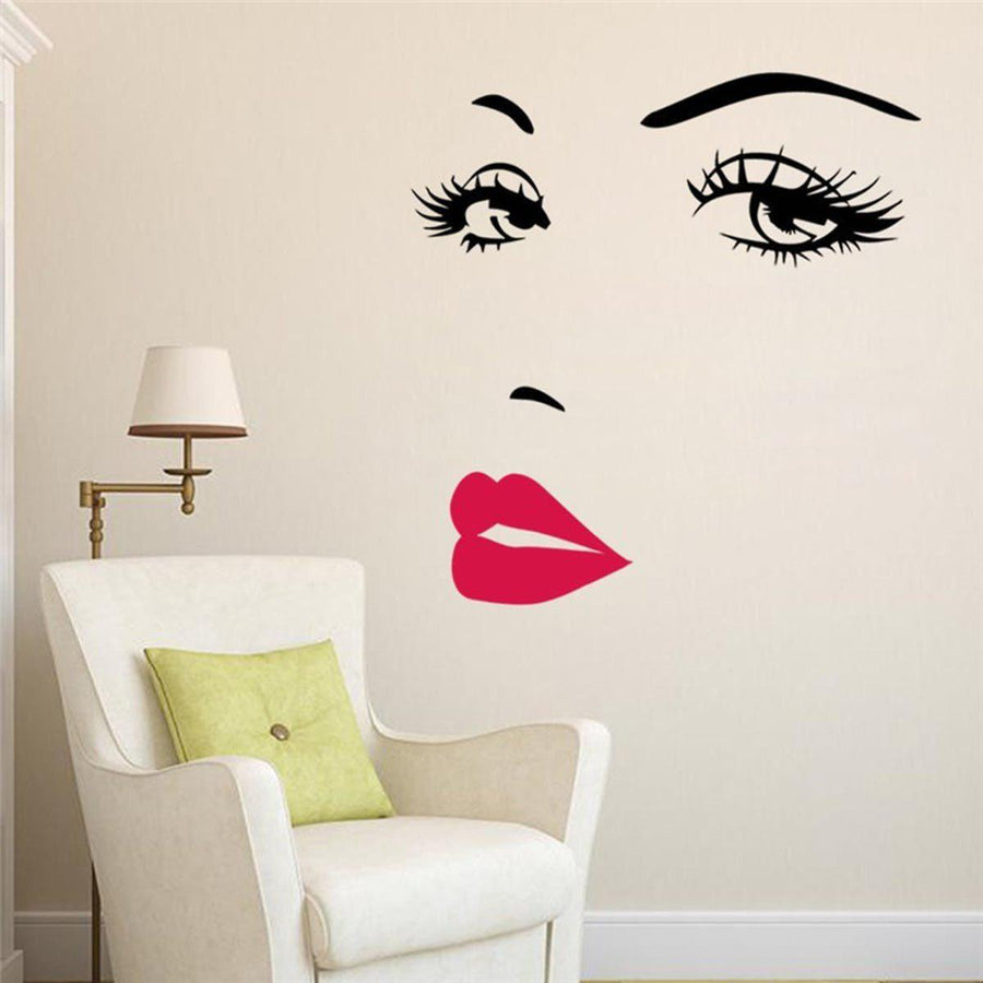 Sexy Girl Wall Sticker Other Wall Sticker 57x70cm-sexy-girl-lip-eyes-wall-stickers-living-bedroom-decoration-vinyl-adesivo-de-paredes-home-decals-mual-art-poster-y-94 Default Title