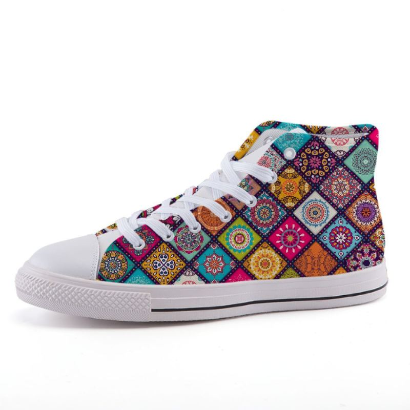 Square Mandala Sneakers Shoes