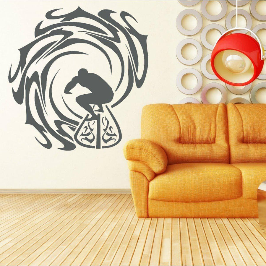 Surfer and Waves Wall Sticker vinyl decal home decor wall art ...