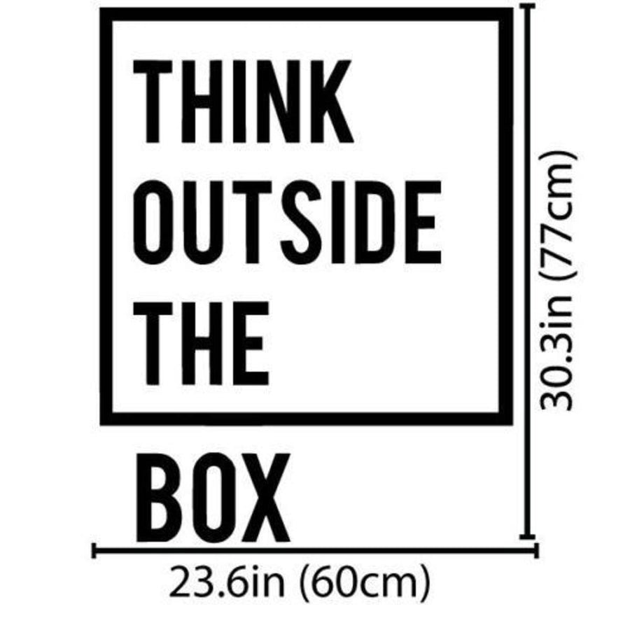 Think Outside Wall Sticker Quotes Wall Sticker inspirational-motivational-quotes-office-wall-decal-art-decor-wall-stickers-home-decor-living-room-vinilos-paredes-mural black / 40X51cm