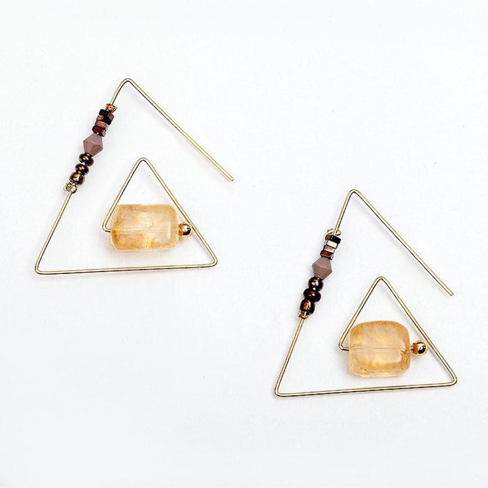 Triangle Earrings Earrings triangle-earrings gold / YCE003902silver