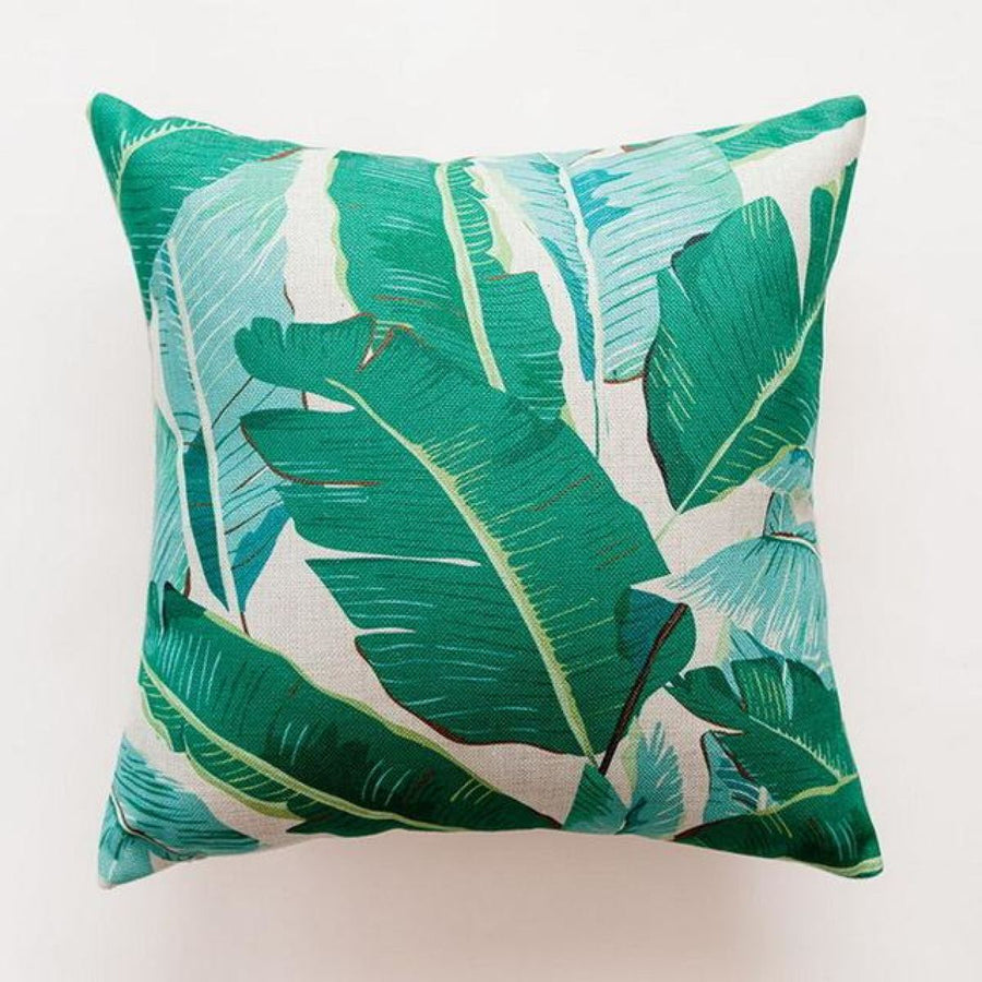 Tropical Green Leaf Cushion Covers Pillowcase Sofa Couch Decoration 5 Cover