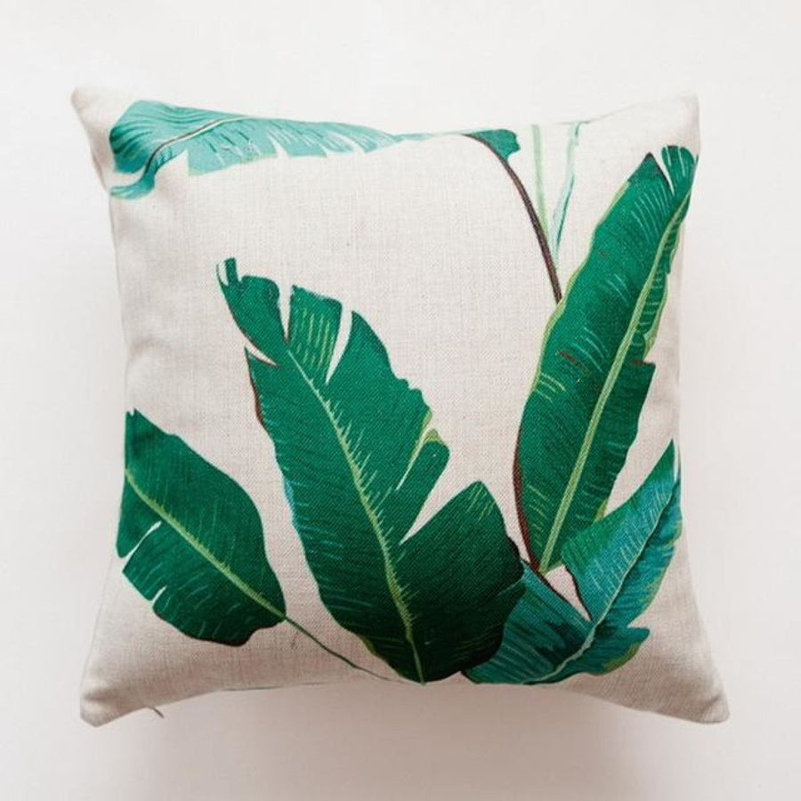 Tropical Green Leaf Cushion Covers Pillowcase Sofa Couch Decoration 4 Cover