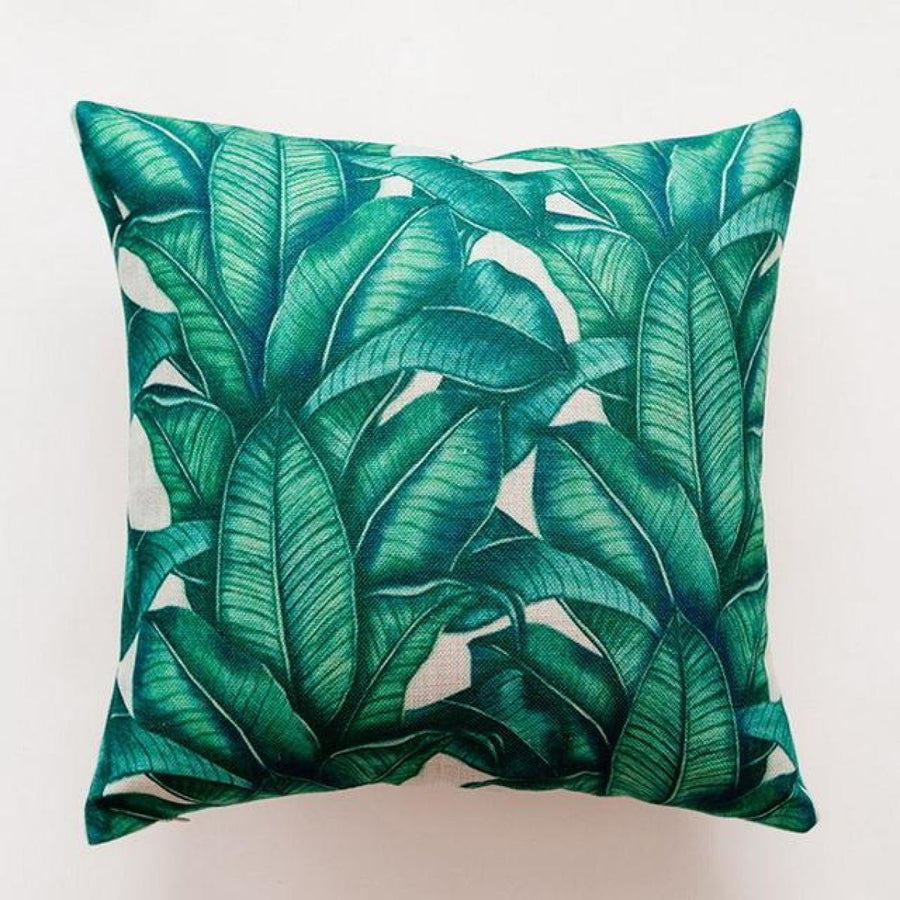 Tropical Green Leaf Cushion Covers Pillowcase Sofa Couch Decoration 3 Cover