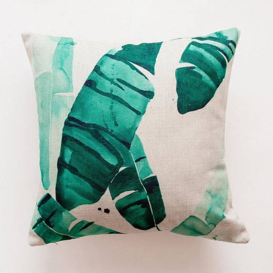 Tropical Green Leaf Cushion Covers Pillowcase Sofa Couch Decoration 1 Cover