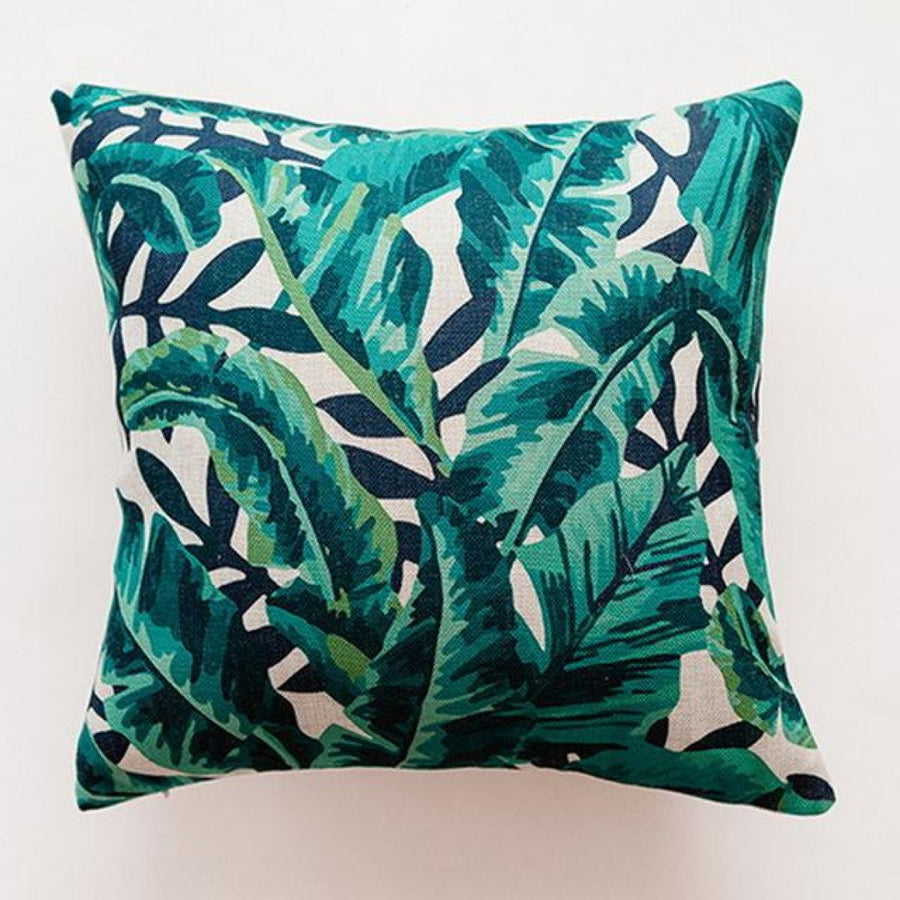 Tropical Green Leaf Cushion Covers Pillowcase Sofa Couch Decoration 9 Cover