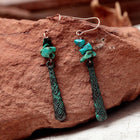 Turquoise Stone Earrings Earrings turquoise-stone-earrings Default Title