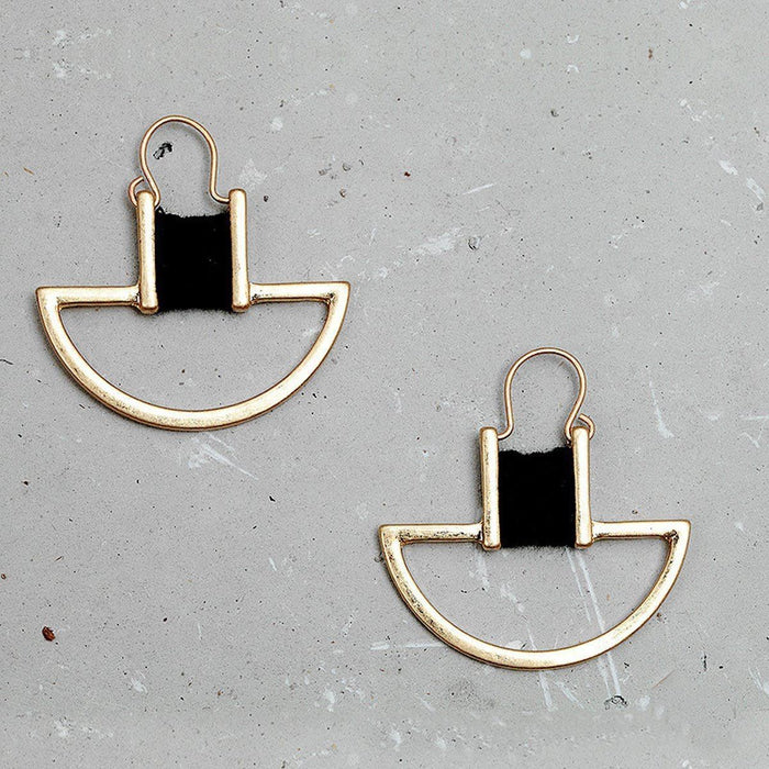 Vintage Geometric Earrings Earrings vintage-geometric-earrings Black