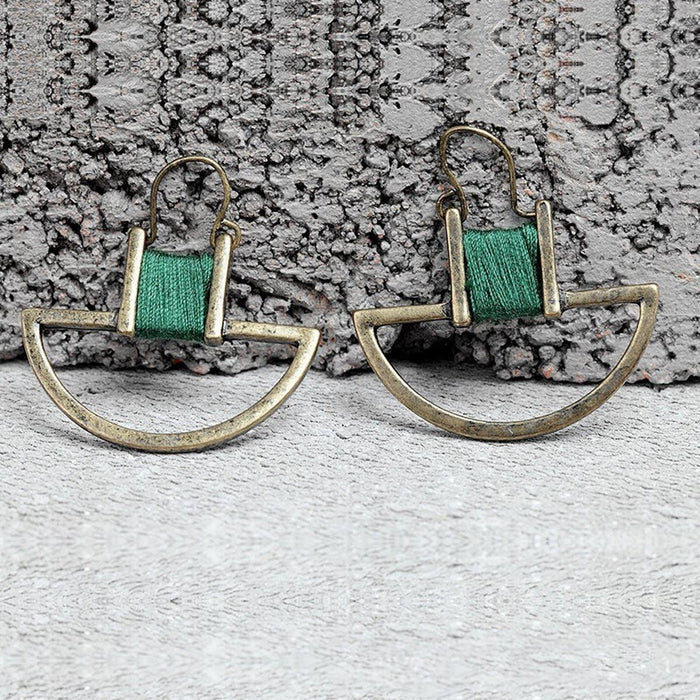 Vintage Geometric Earrings Earrings vintage-geometric-earrings Green