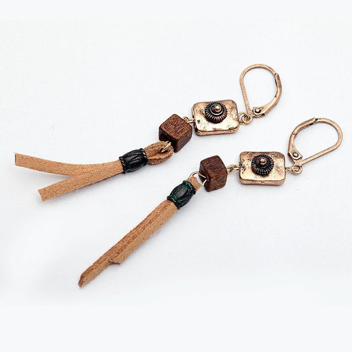Vintage Suede Earrings Earrings vintage-suede-earrings Default Title