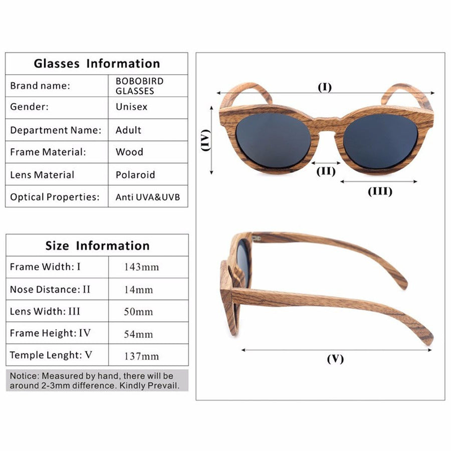 Vintage Wooden Bamboo Sunglasses Polarized Mirrored Coating Womens Zebra Wood Sun Glasses gafas de sol hombre Men, Women sunglasses