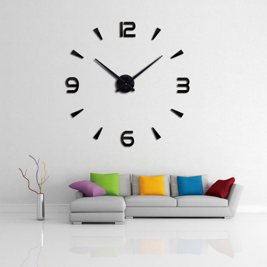 Wall Clock Sticker Clocks Wall Sticker wall-clock-modern-sticker Black