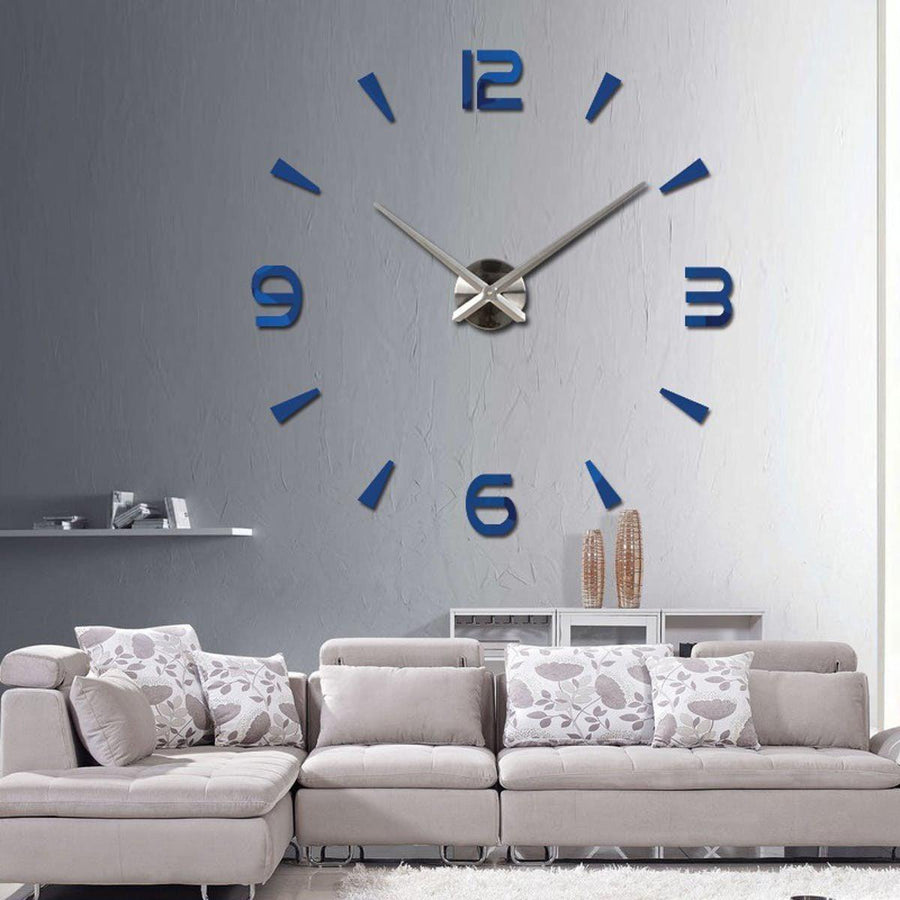 Wall Clock Sticker Clocks Wall Sticker wall-clock-modern-sticker Blue