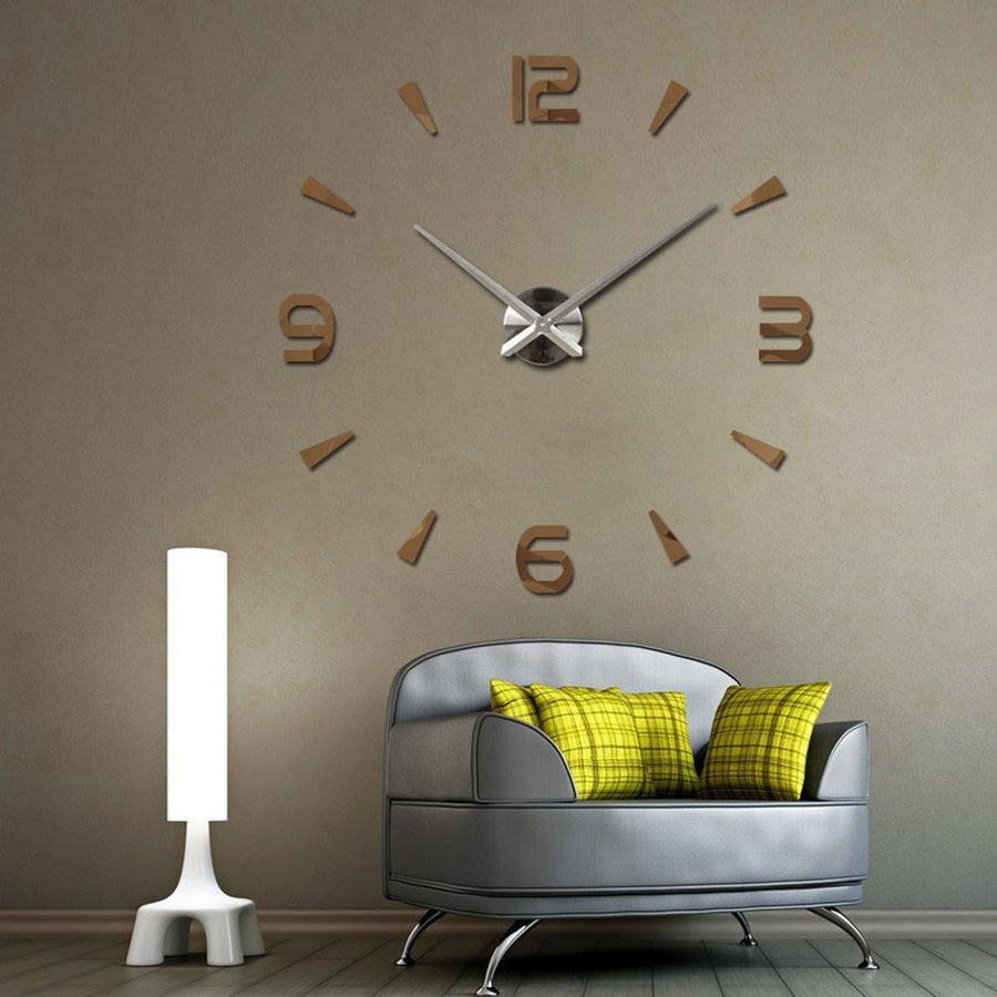 Wall Clock Sticker Clocks Wall Sticker wall-clock-modern-sticker Chocolate