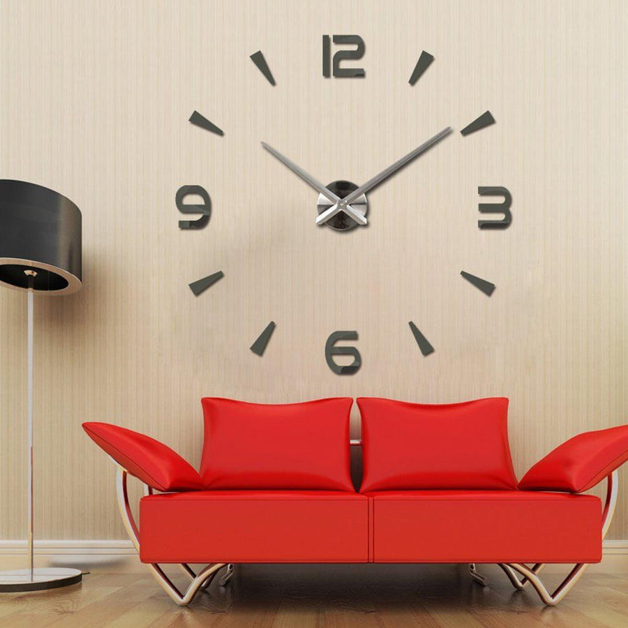Wall Clock Sticker Clocks Wall Sticker wall-clock-modern-sticker Dark Gray