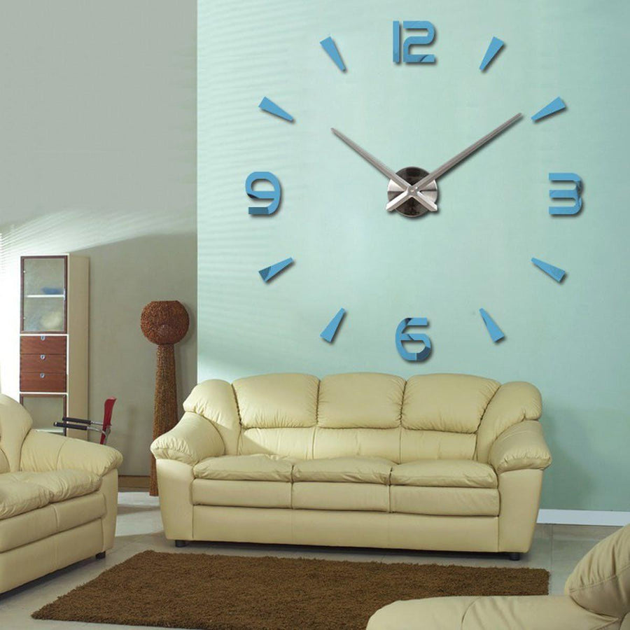 Wall Clock Sticker Clocks Wall Sticker wall-clock-modern-sticker lightBlue