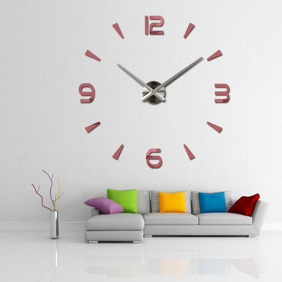 Wall Clock Sticker Clocks Wall Sticker wall-clock-modern-sticker Pink