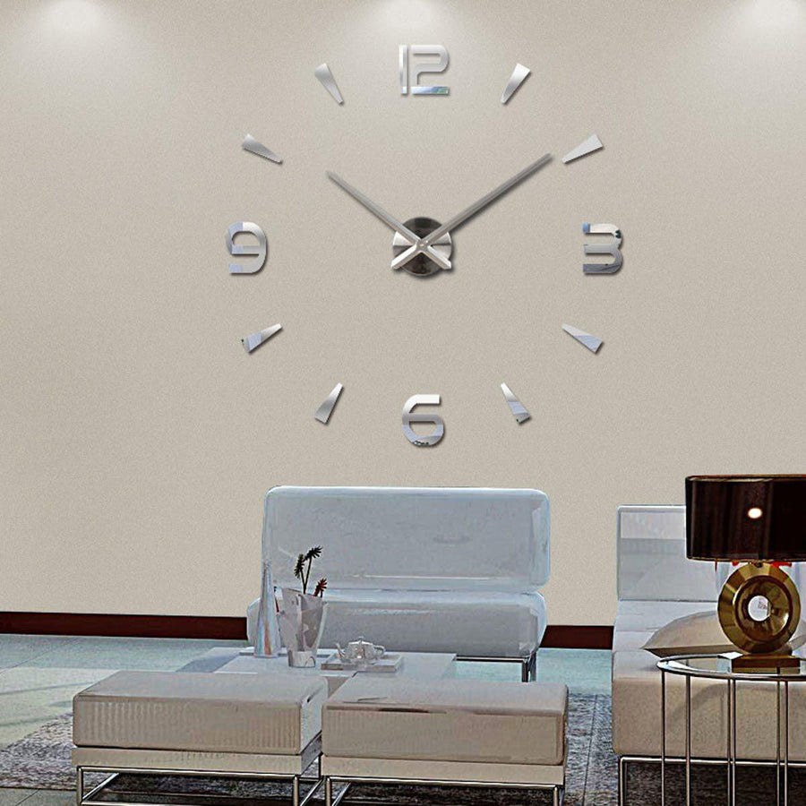 Wall Clock Sticker Clocks Wall Sticker wall-clock-modern-sticker Silver