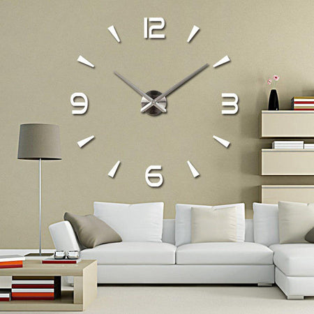 wall stickers vinyl decal home clock decor mural art feathers rules
