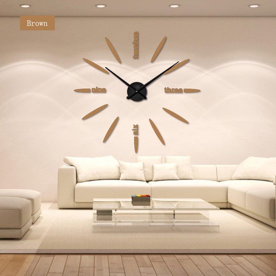Wall Clock Sticker Clocks Wall Sticker wall-clock-sticker-1 beige and black / 47 inch