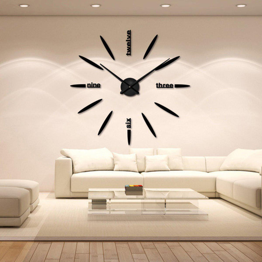 Wall Clock Sticker Clocks Wall Sticker wall-clock-sticker-1 black / 47 inch