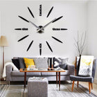 Wall Clock Sticker Clocks Wall Sticker wall-clock-sticker-1 black and silver / 47 inch