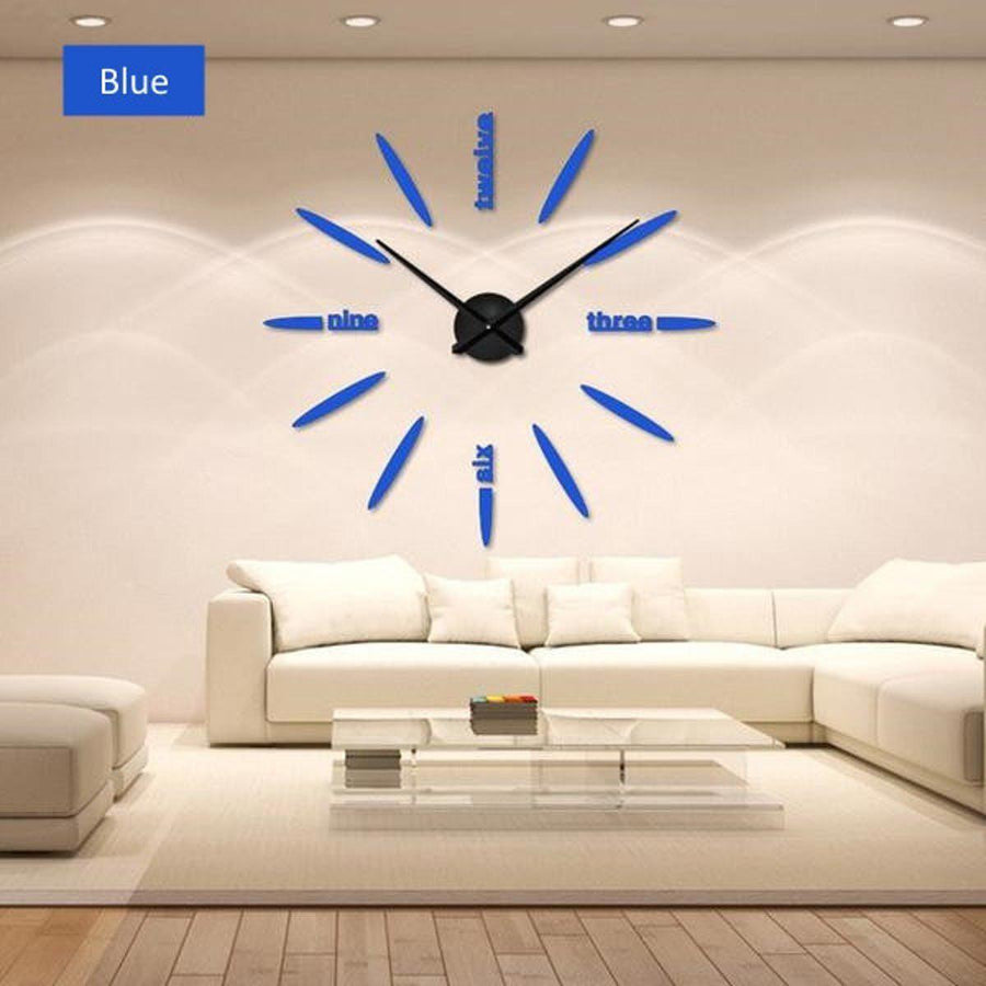 Wall Clock Sticker Clocks Wall Sticker wall-clock-sticker-1 blue / 47 inch