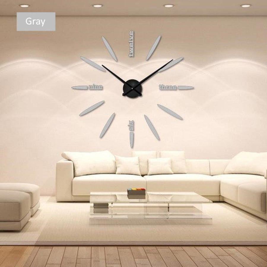 Wall Clock Sticker Clocks Wall Sticker wall-clock-sticker-1 gray / 47 inch