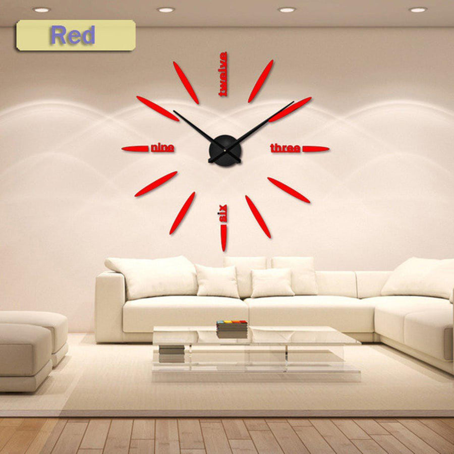 Wall Clock Sticker Clocks Wall Sticker wall-clock-sticker-1 red / 47 inch
