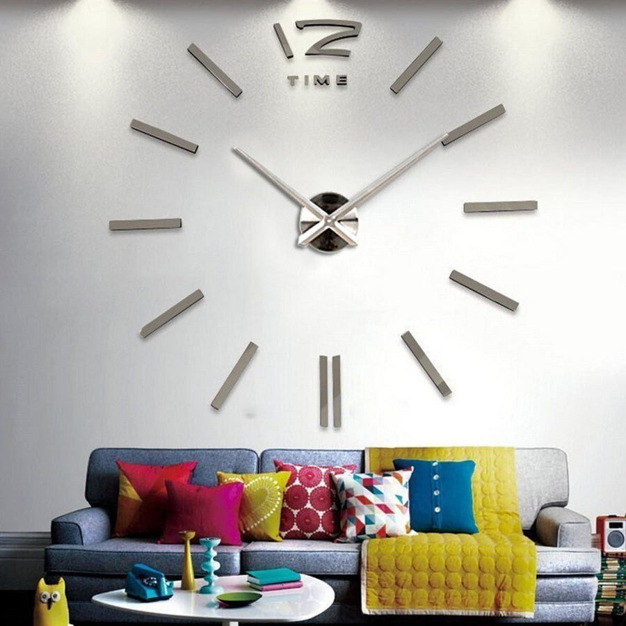 Wall Clock Sticker Clocks Wall Sticker wall-clock-sticker-2 Dark Gray