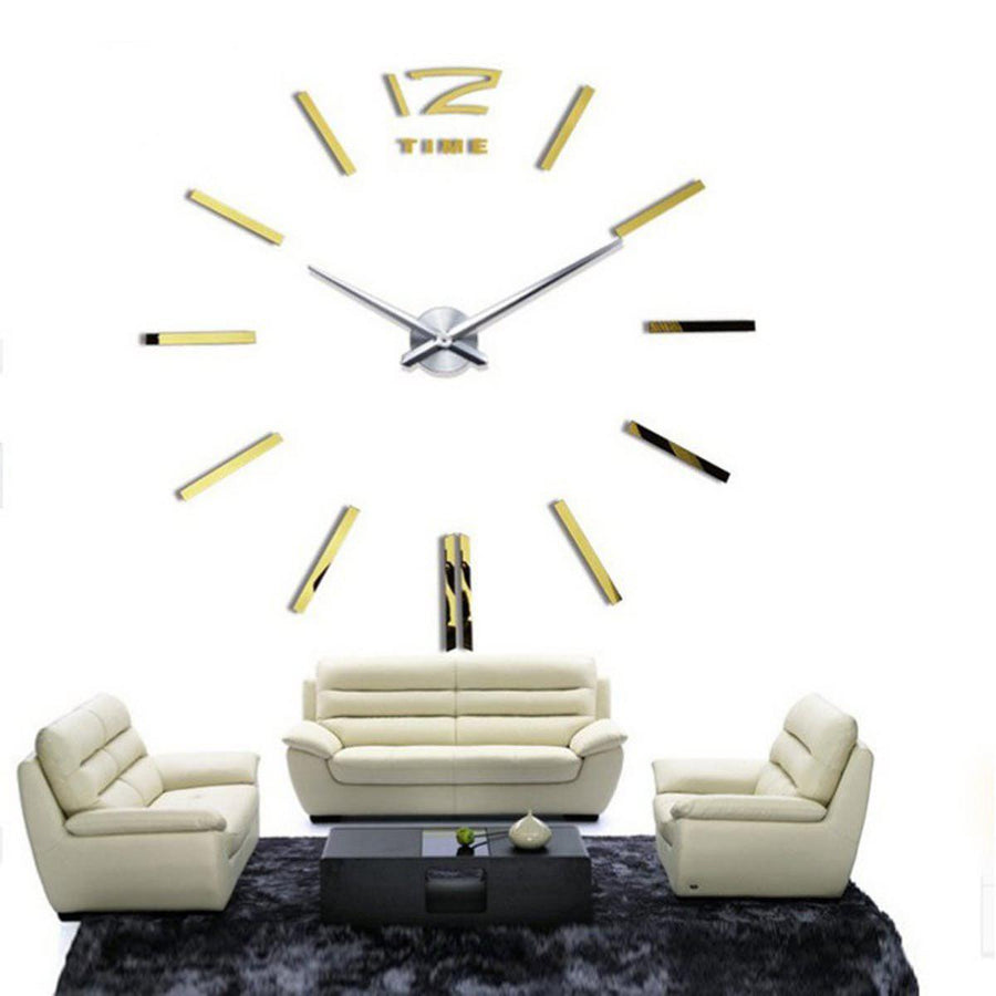 Wall Clock Sticker Clocks Wall Sticker wall-clock-sticker-2 Gold