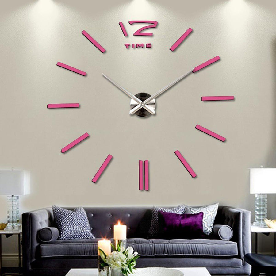 Wall Clock Sticker Clocks Wall Sticker wall-clock-sticker-2 Pink