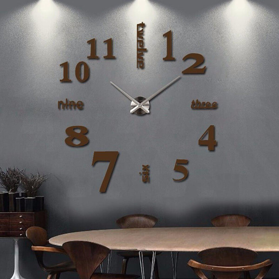 Wall Clock Sticker Clocks Wall Sticker wall-clock-sticker-4 Chocolate