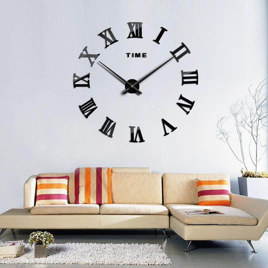 Wall Clock Sticker Clocks Wall Sticker wall-clock-sticker-5 Black