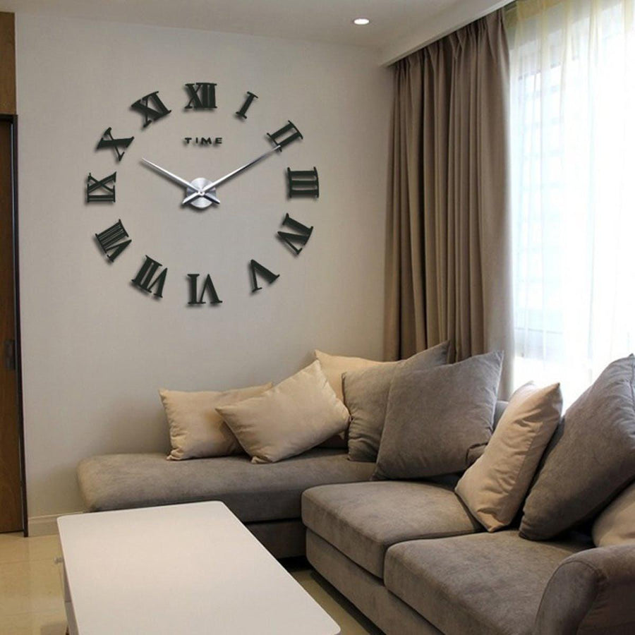 Wall Clock Sticker Clocks Wall Sticker wall-clock-sticker-5 Dark Gray